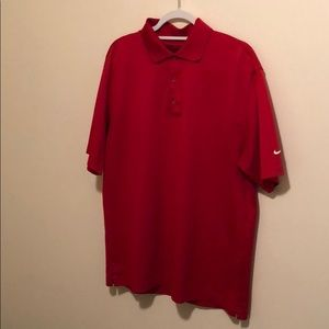 Nike Golf fit dry polo men's L red